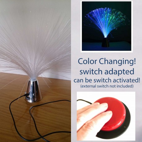 Switch-Adapted Fibre Optic Lamp