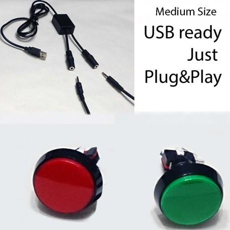 USB Custom Push Buttons - Photo Booth Style Programmed